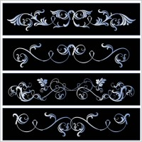 Link toBlack and white lace pattern vector
