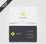 Link toBlack and white minimalist business card vector