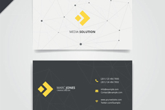 Link toBlack and white minimalist business cards designs vectors