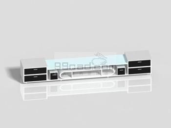 Link toBlack and white mosaic fashion tv cabinet 3d model