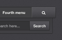 Link toBlack and white navigation menus psd