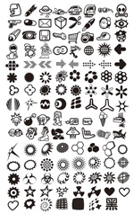 Link toBlack and white pattern flags