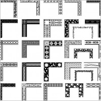 Link toBlack and white pattern frame corners 03 vector