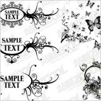 Link toBlack-and-white pattern vector material