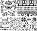 Link toBlack and white patterned borders 1 vector