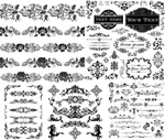 Link toBlack and white patterned borders 3 vector