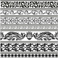 Link toBlack and white patterns 04 vector
