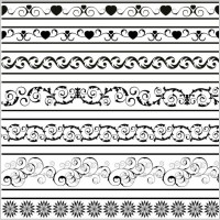 Link toBlack and white patterns 05 vector