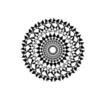 Link toBlack and white rounded pattern vector