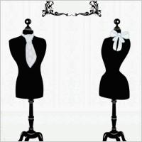 Link toBlack and white silhouette hanger model 05 vector