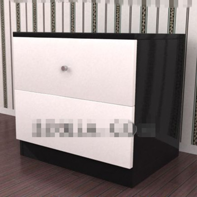 Link toBlack and white simple bedside cabinet 3d model