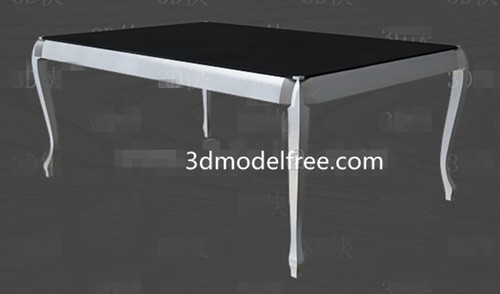 Link toBlack and white simple style tea table 3d model