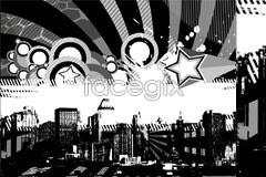 vector microcosm urban trend white and Black