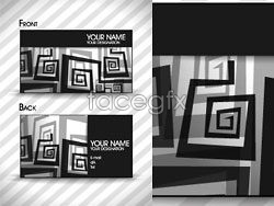 Link toBlack and white trend vector business card template