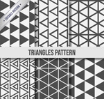 Link toBlack and white triangular seamless background vector