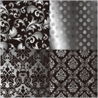 Link toBlack and white twoparty continuous pattern vector