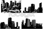 Link toBlack and white urban architecture vector