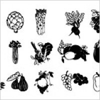 Link toBlack and white vector material fruits and vegetables
