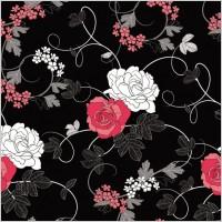 Link toBlack background floral 01 vector