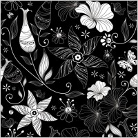 Link toBlack background floral 03 vector