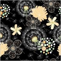 Link toBlack background floral 04 vector