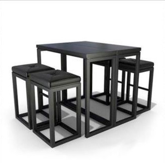 Link toBlack casual combination of tables and chairs 3d model