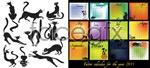 Link toBlack cats 2011 calendar vector