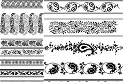 Link toBlack classic lace vector