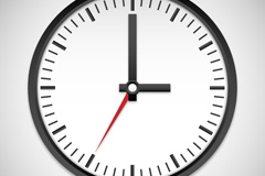 Link toBlack clock design vector