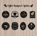 Black coffee label vector