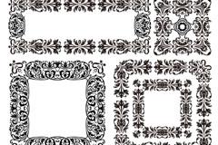 Link toBlack decorative box, vector