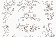 Link toBlack decorative pattern design vector