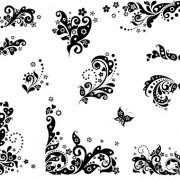Link toBlack floral decor object vector 01 free