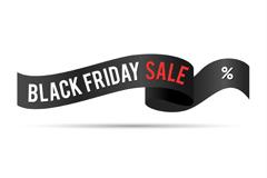 Link toBlack friday sale ribbons vector