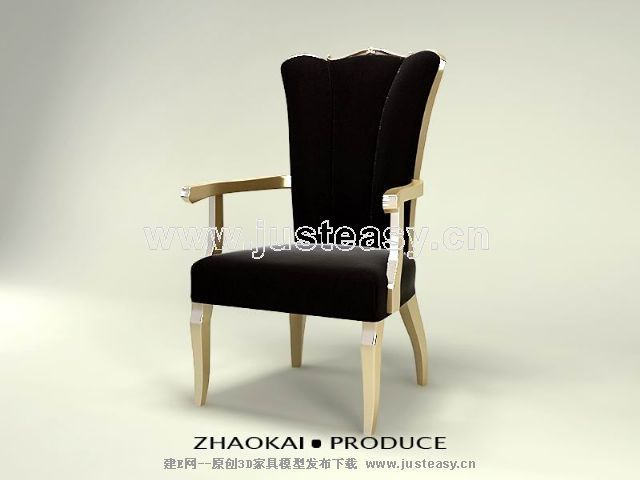 Link toBlack gold single chair 3d model (including materials)