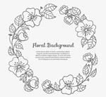 Link toBlack hand-painted garland vector