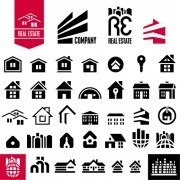 Link toBlack house icons vector