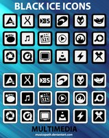 Link toBlack ice icons - multimedia