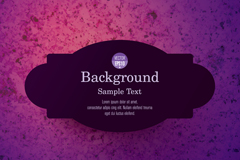 Link toBlack label purple background vector