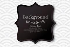 Link toBlack label white wavy background vector