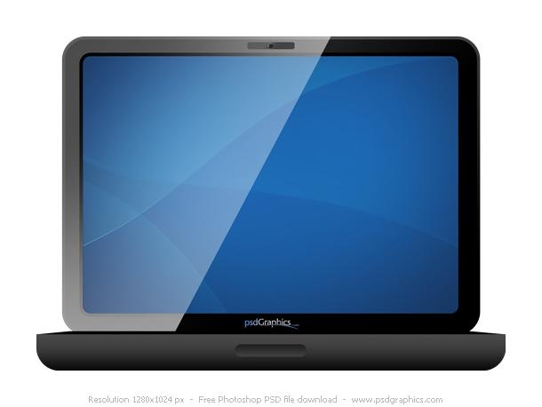 Link toBlack laptop icon psd