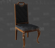 Link toBlack leather exquisite wooden chair 3d model