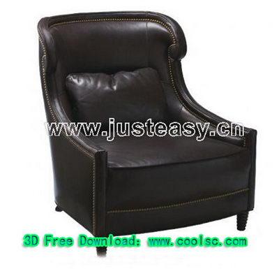 Link toBlack leather sofa 3d model (including materials)