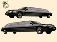 Black limousine vector free