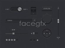 Link toBlack mobile web player ui source psd