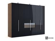 Link toBlack multi-door coats cabinet 3d model