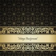 Link toBlack pattern vintage backgrounds vector 03