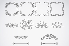 Link toBlack patterned border design vector