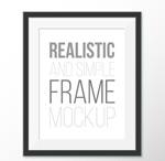 Link toBlack photo frame design vector