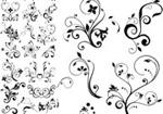 Link toBlack plant pattern vector